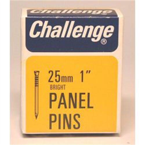 Bright Steel 25mm Challenge Panel Pins box Pack