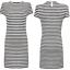 NEUF RRP £ 55 Ex French Connection Bleu Marine//blanc rayé robe de coton SS17