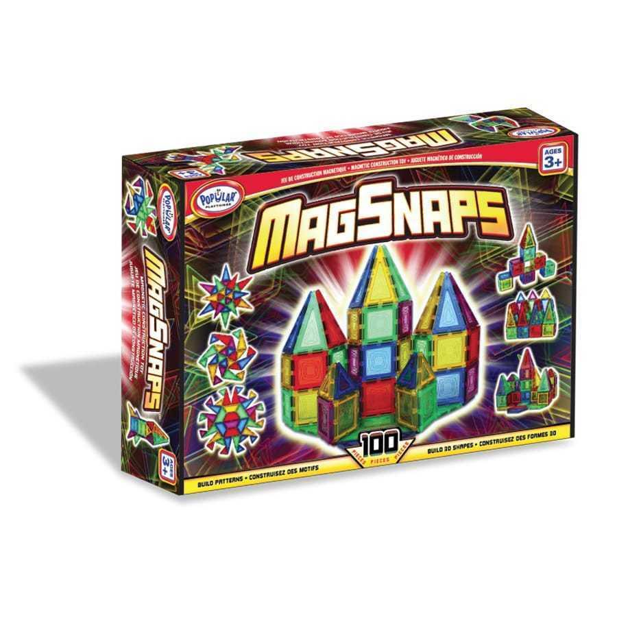 Magsnaps 100 piezas conjunto Colorido Magnético bloques de construcción juguete para niños