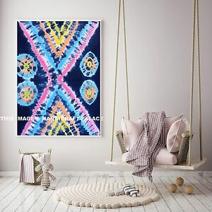 Image Is Loading Indian Cotton Tie Dye Shibori Tapestry Home Decor