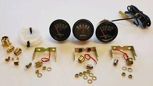 New-TRACTOR-Oil-Amp-Temperature-Gauge-Set-for-MANY-Brands-2-034-BLACK-BEZEL-AG-IND