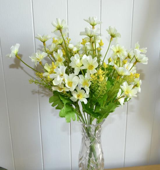 12x Blaumenstrauß künstliche Blaumen KunstBlaumen  weiß artificial flowers a