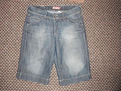 "& E Fit Shorts Girovita 29 ""gamba 14"" Sfumati Blu Media Donna Pantaloncino Jeans-"