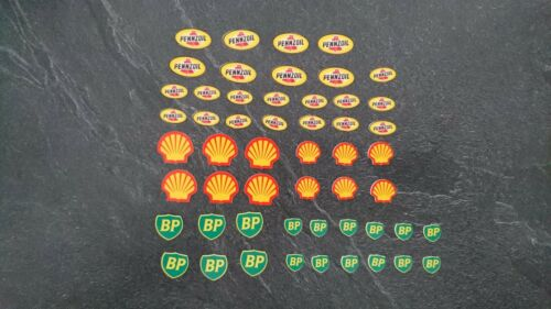 DECALS 10 sponsors Shell Texaco STP Dickies Oil gasoline DECALCOMANIE decal