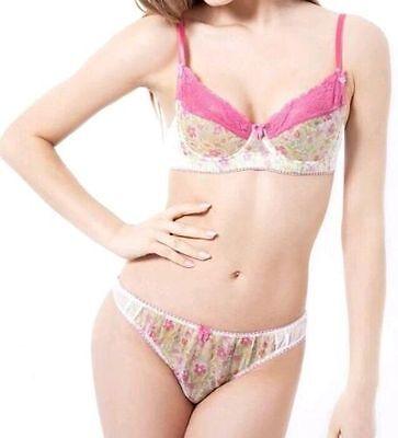 Womens Mimi Holliday Damaris Luxury Silk Satin Balcony Underwired Pink Bra