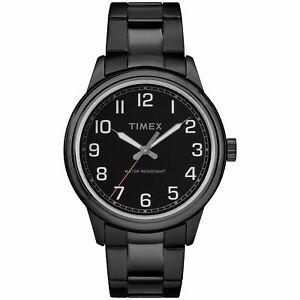 Timex-Mens-New-England-Black-Stainless-Steel-Bracelet-Watch-TW2R36800