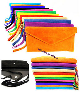 Large-Envelope-Clutch-Evening-Genuine-Real-Suede-Leather-Shoulder-Bag-29-Colours