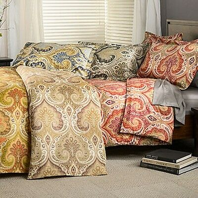 Milano Paisley Cotton Duvet Cover Set