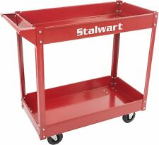 Tool Utility Cart Garage Service Mechanic Trolley 2 Tier Shelves Commercial Shop