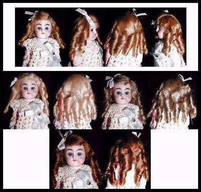 NEW DOLL WIG Style LOVE Size 4 1//2 Color Dark Blonde Mohair By Global Dolls