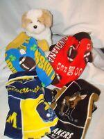 College Team Small Fleece Dog Coat Chihuahua, Yorkie,7-12lbs Free Shipping