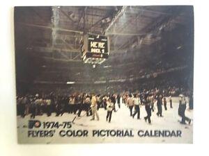 Rare-Philadelphia-Flyers-1974-75-Pictorial-Calendar-Autographed-Dave-Schultz