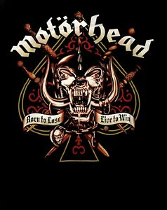 MOTORHEAD-cd-lgo-1975-SWORD-SPADE-Official-SHIRT-2X-New-born-to-lose-live-to-win