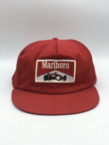 Vintage Marlboro Racecar Red Ball SnapBack Cap Hat