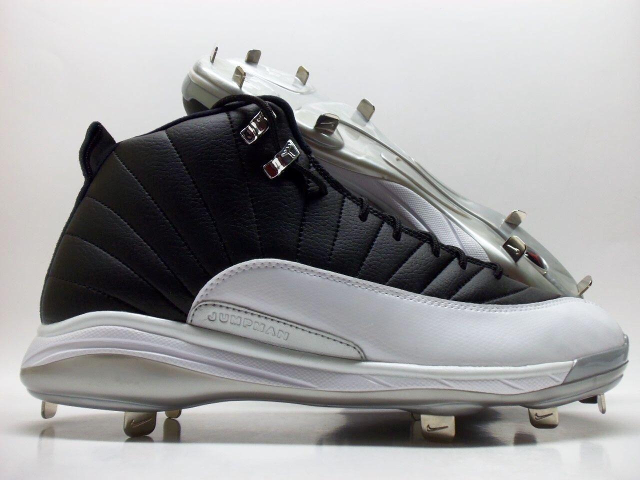 Nike Air Jordan 12 talla Retro Metal Baseball negro / blanco talla 12 16 de reducción de precios salvajes hombres zapatos casuales 44e0fe