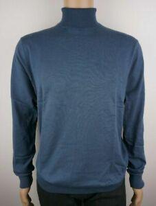 Men-039-s-Nuevo-Ex-tienda-rollo-de-algodon-Tortuga-Jersey-De-Cuello-Tallas-2XL-46-034-Azul-en-el