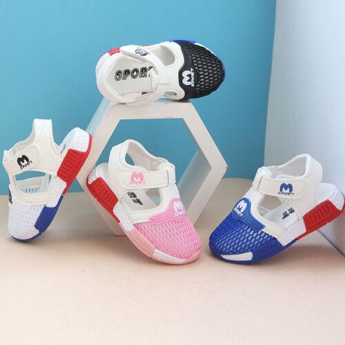 Summer Beach Boy Girl Kids Toddler Sandals Closed Toe Outdoor Sport Mesh Sandals