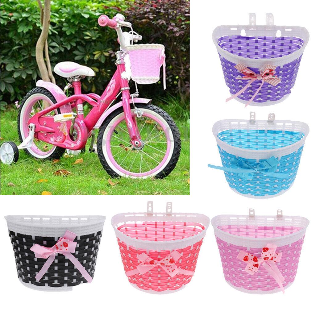Enfudid Girls Bike Basket Children Bicycle Basket for Kid Boys Cute Handlebar Baskets