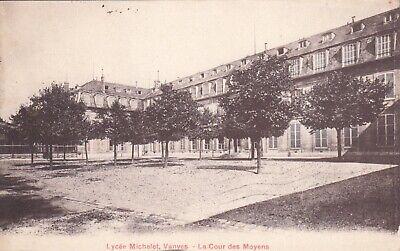 Carte Postale Ancienne Hauts De Seine Vanves Lycee Michelet Cour