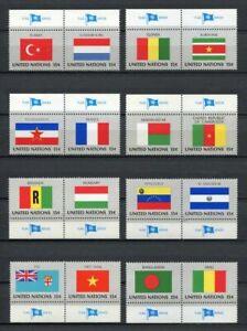 19909-United-Nations-New-York-1980-MNH-Neu-Flags-16v