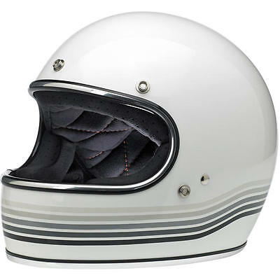 Biltwell Inc Gringo Spectrum White Full Face Motorcycle Helmet