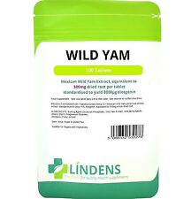Mexican Wild Yam 500mg Tablets Diosgenin 100 pack Lindens