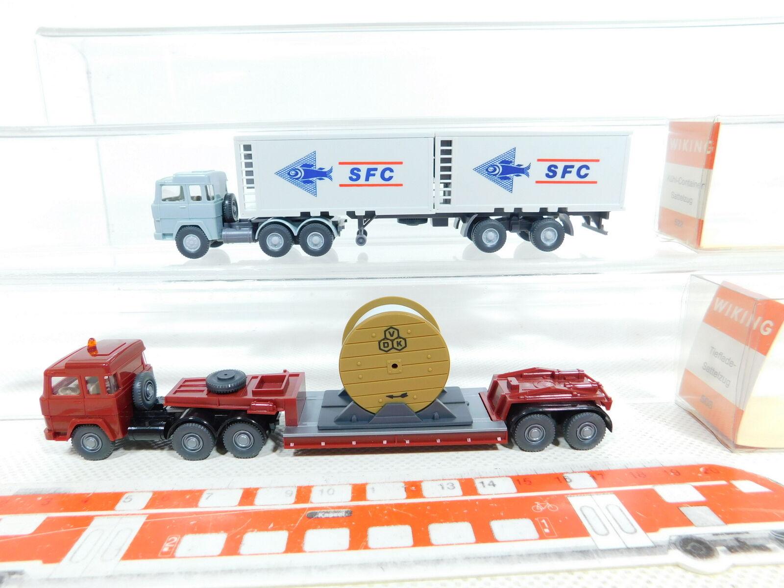 BX316-0, 5 x Wiking 1 87 H0 Lorry Magirus  503 Vdk +522 Sfc , Very Good +Box