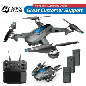 Holy Stone FPV Drone With HD Camera WIFI FPV RC Foldable Quadcopter 3 Batteries