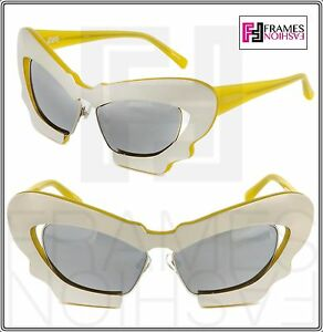 d5698624853 Image is loading LINDA-FARROW-Prabal-Gurung-Sculptural-Mask-Ochre-Silver-