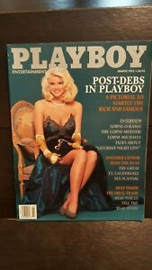 Vintage-March-1992-Playboy-Issue-Ann-Nicole-Smith-in-glamorous-pictorial-NM