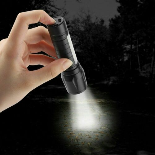 Bu Portable T6 COB LED USB Rechargeable Zoomable Flashlight Torch Lamp Light