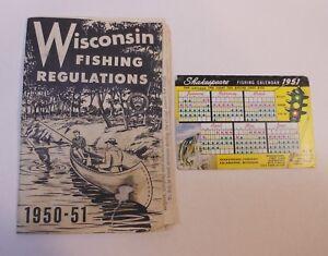 Vintage Wisconsin fishing regulations 1954-1955 booklet