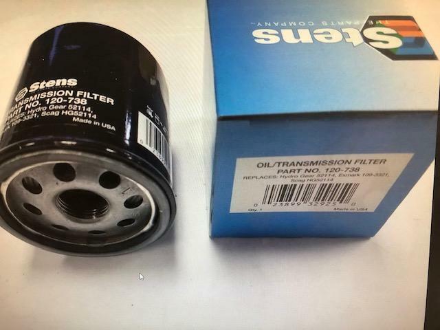 Stens 120-738 PK2 Transmission Filters