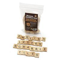 100 Scrabble Wood Tiles Complete Set Letter Game Alphabet Piece Pendants Name De