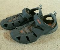 EUC Charcoal gray TEVA 4154 water shoes sport sandals,trail hiking,mens 10,EU 43