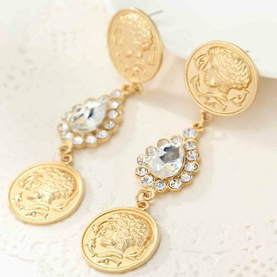 Hot Charm Fashion Jewelry Crystal Rhinestone Ear Drop Dangle Stud Earrings 656