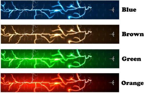 White Water Archery Lightning Storm 2 Arrow Wraps 15 Pc Pack Choose Length Width