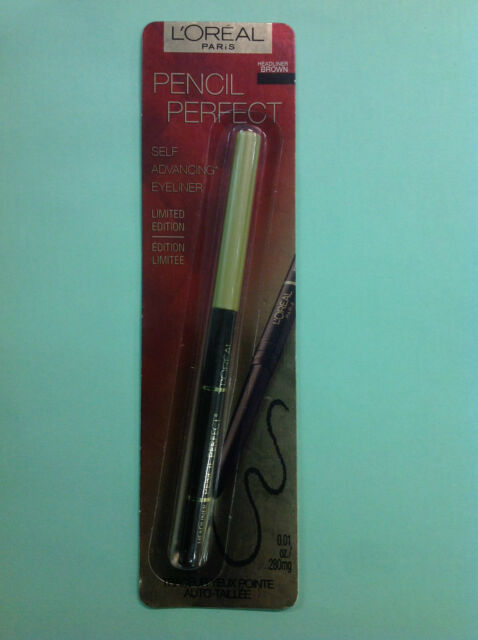 L'Oreal Pencil Perfect Self Advancing Eye Liner LIMITED EDITION BROWN NEW