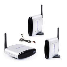 2.4GHz Audio Video AV Sender IR Remote Wireless Transmitter 2 Receivers PAT220