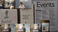 Signed Rachel Maddow Drift Book Show Tv Host Msnbc Hc Dj 1/1 News Pics Flier