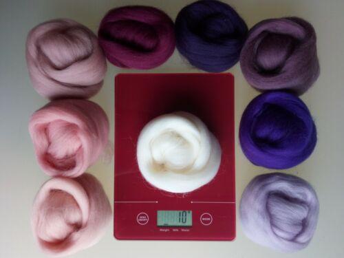 pure laine mérinos pour aiguille et humide feutrage PACKS de 30 90 g 60 Orchid Set