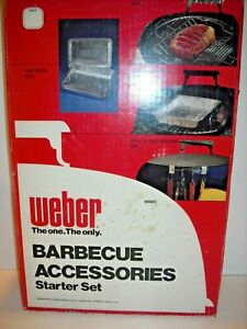 Vintage Weber Grill Barbecue Accessories Starter Set 1980