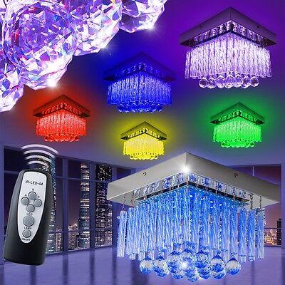 Deckenlampe Design LED Farbwechsler Wohn Zimmer Lampe RGB Leuchte Fernbedienung