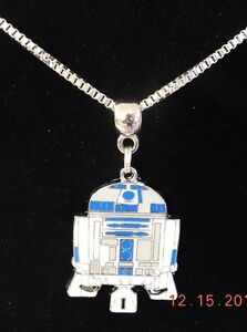 Details about Disney R2 D2 STAR WARS Pendant Necklace Chain UNISEX USA  Seller FREE SHIPPING!!!