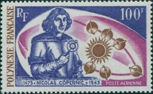French-Polynesia-1973-Sc-C95-SG166-100f-Copernicus-and-Planets-MNH