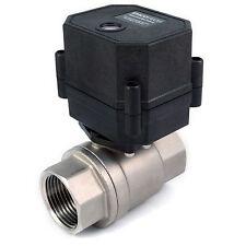 1 Npt Motorized Ball Valve 9 12v To 24v Ac Dc 3 Wire Stainless Steel Epdm