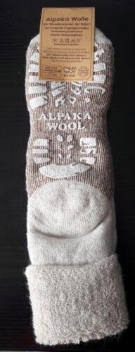 Messieurs ABS Chaussettes Laine butées Chaussettes Avec Enveloppe laine et alpaga Nature 39-46