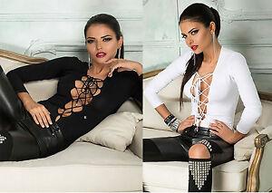 M Weiß Shirt Top Body Damentop Alina S Bodysuit Damen Oberteil Bodie By Bluse wRq1BZvv
