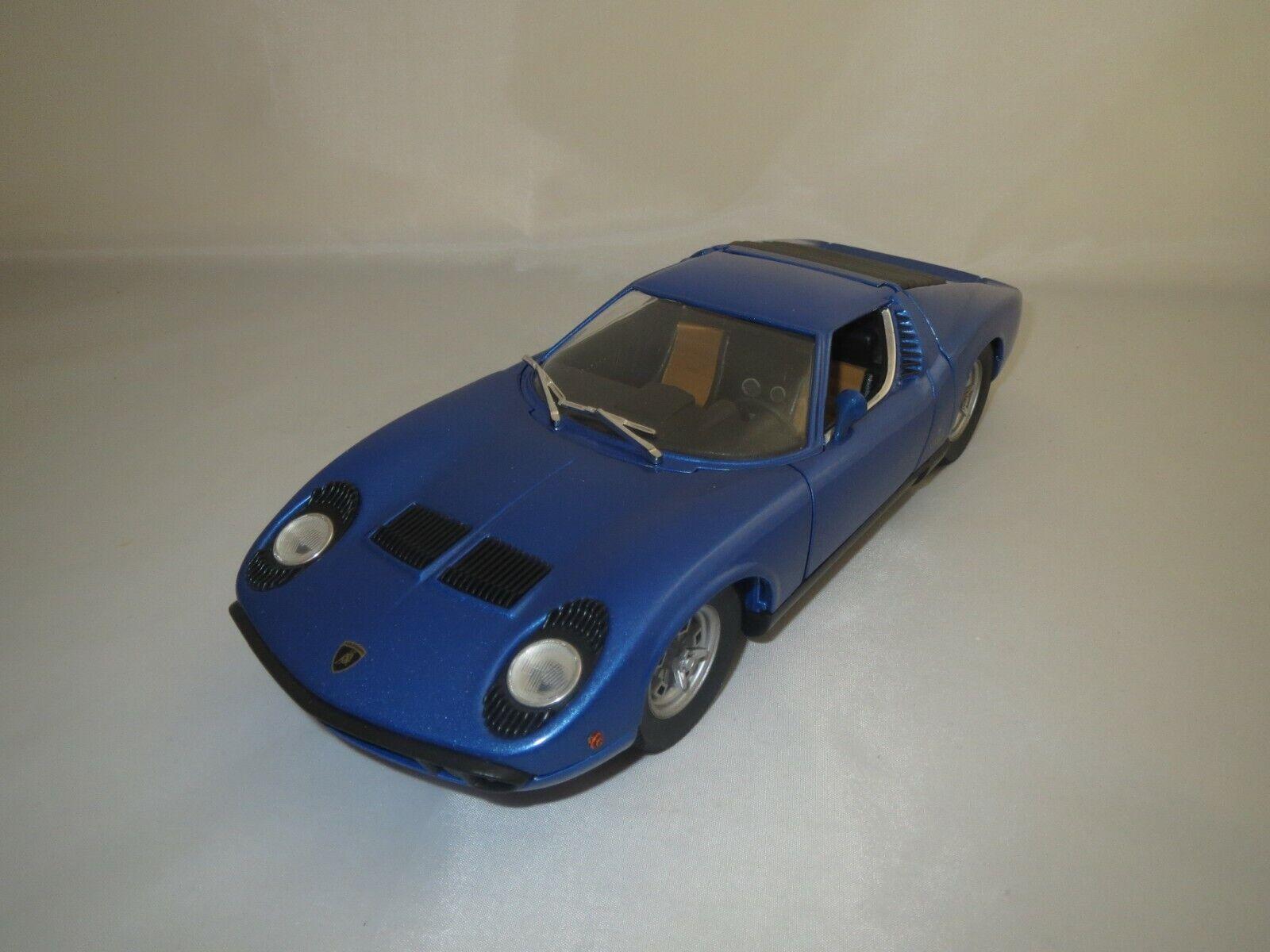 ANSON  Lamborghini  Miura  (blau-metallic)  1 18  ohne Verpackung
