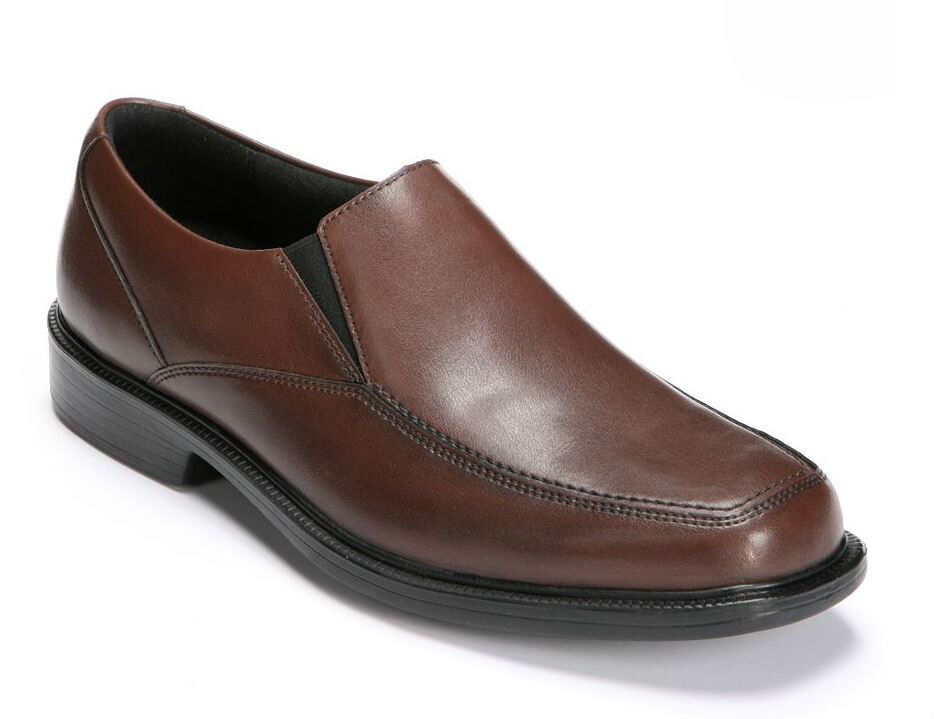 Bostonian Kopper Rine Brown Leather Slip-On Dress Shoe Scarpe classiche da uomo